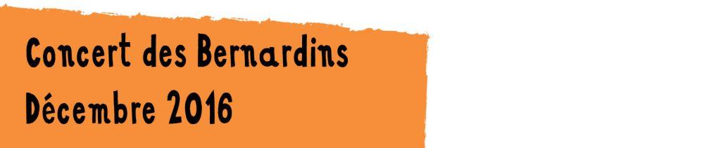 Concert des Bernardins 2016